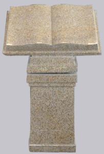 Book lid on square pedestal