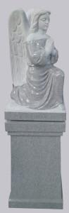 Kneeling Angel lid on square pedestal