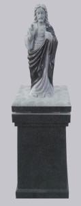 Sacred Heart lid on square pedestal