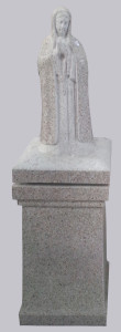 Mary lid on square pedestal - use one only