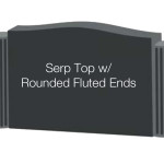 Serp with Fluted Ends