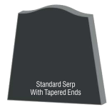 Serp with Tapered Ends